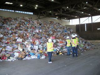 Unsorted Recyclables, on a tour of Phoenix's recycling operation