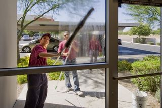 Window washing would be part of periodic services...