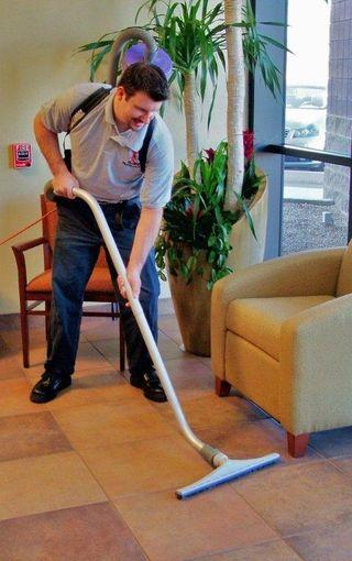HEPA vacuum for both tile and carpet