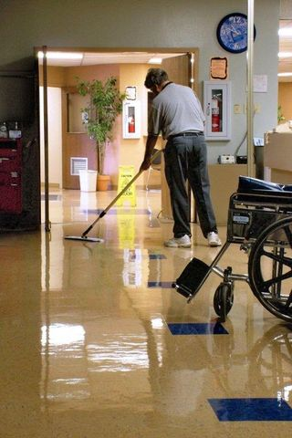 Medical - rotate & launder microfiber mops to limit cross contamination