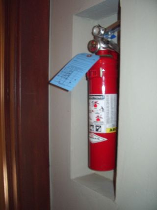 The little card on the Fire Extinguisher