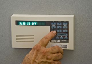 Confirm identity before giving our alarm codes