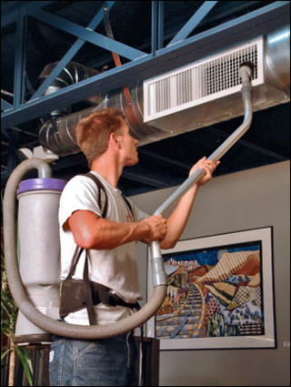 Vacuum the vents; don't worry about the duct