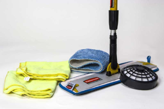 IAQ-tools: HEPA filter, microfiber mop & wipes